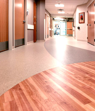 Hospital hallway floors