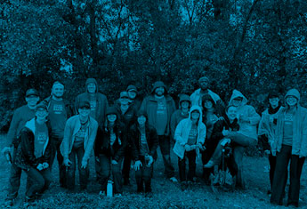 Tennant Employees posing for a picture after tree planting event in Saint Paul, Minnesota