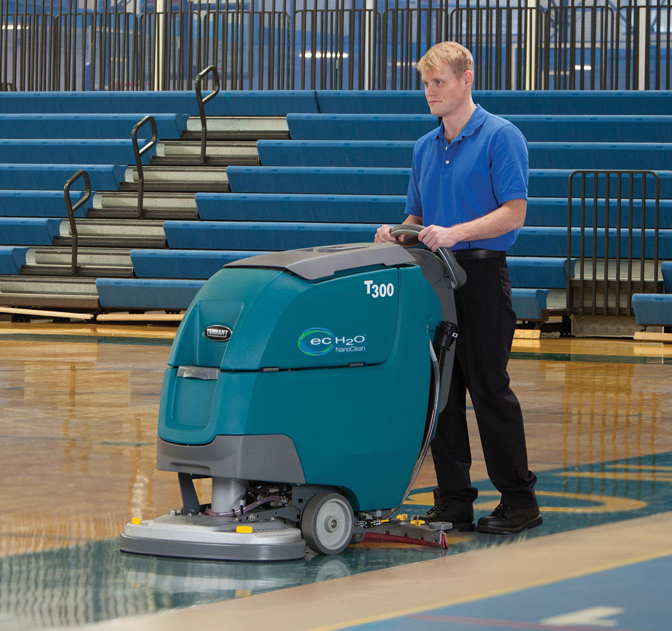 T300 Walk-Behind Scrubber with ec-H2O NanoClean Technology