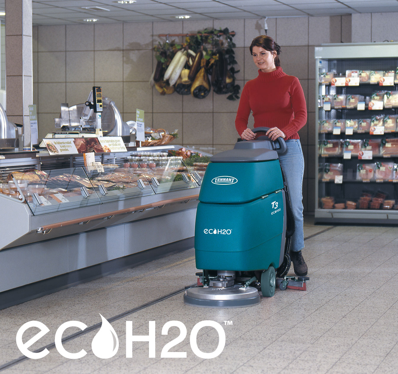 T3 Walk-Behind Scrubber with ec-H2O Technology