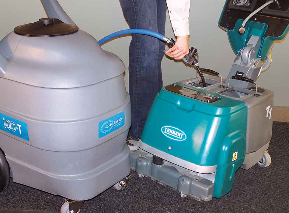Orbio Solution Transport Cart filling floor machines