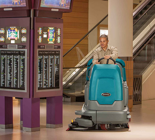 T12 Compact Battery Ride On Floor Scrubber Tennant Company