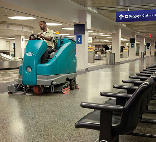 T16 Battery Ride-On Floor Scrubber alt 6