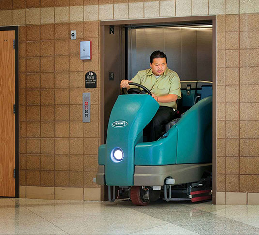T16 Battery Ride-On Floor Scrubber alt 24