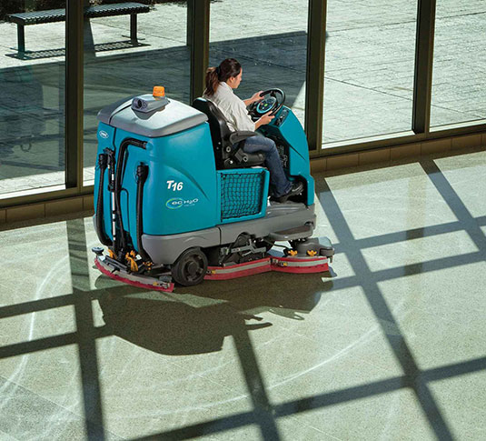 T16 Battery Ride-On Floor Scrubber alt 12
