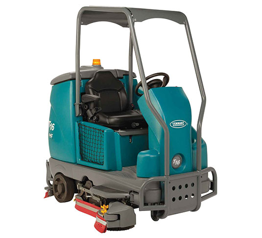 T16 Battery Ride-On Floor Scrubber alt 1