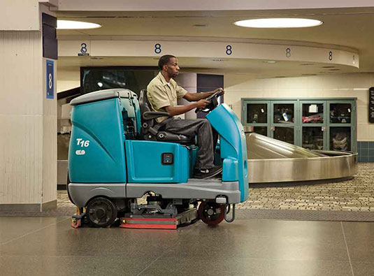 T16 Battery Ride-On Floor Scrubber alt 2