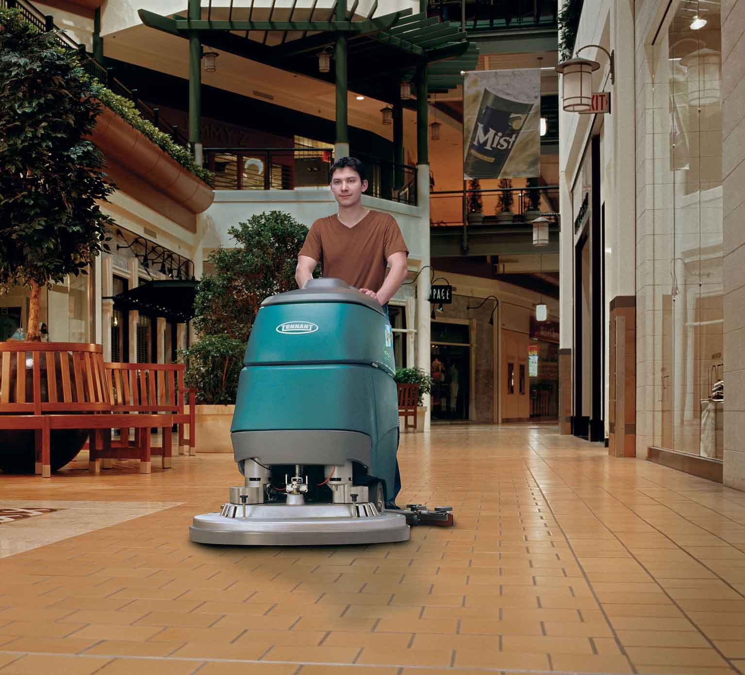 T5 Mid Size Walk Behind Scrubber Tennant Company