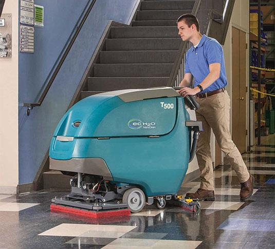 T500 T500e Walk Behind Floor Scrubbers Tennant Company
