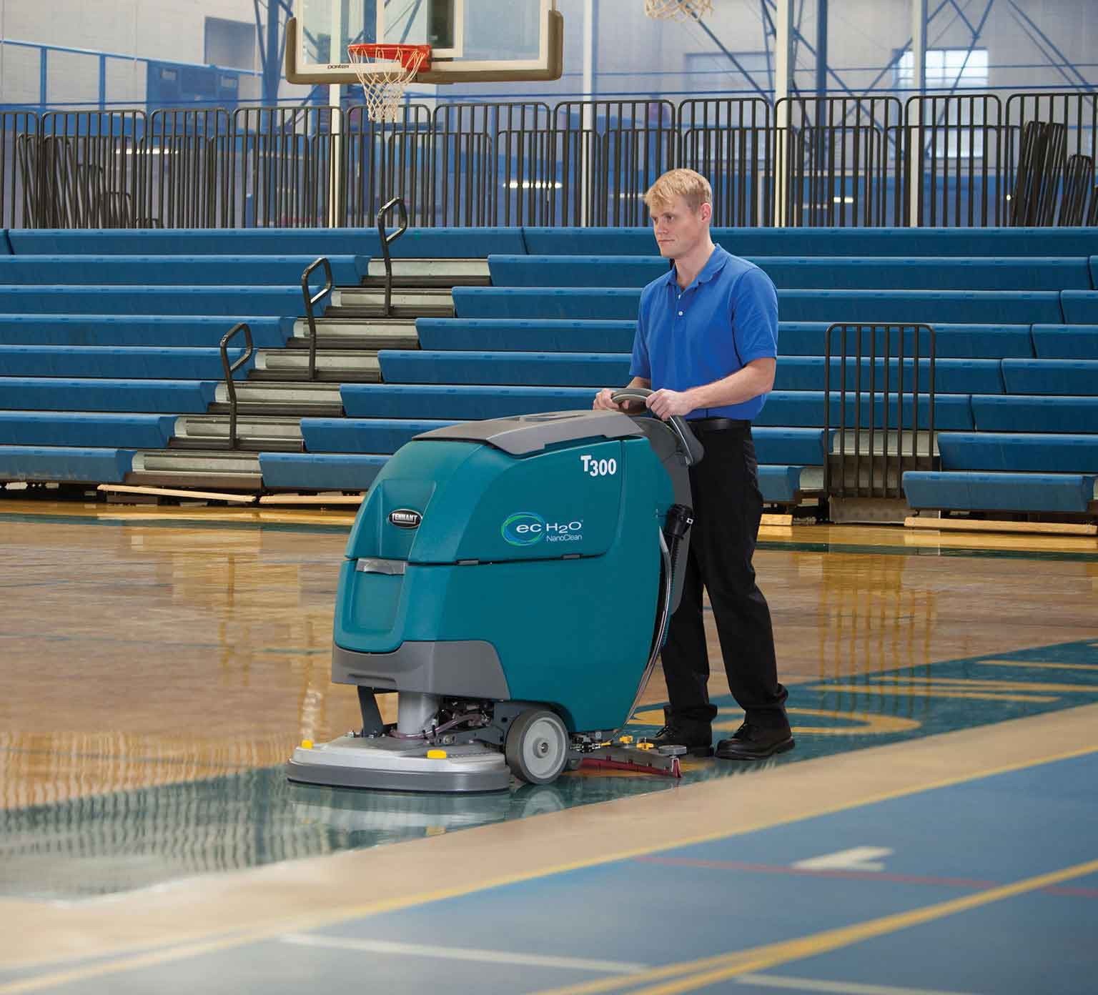 Tennant ec-h2O reduces cost to clean