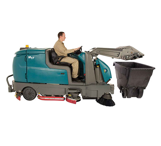M17 Battery-Powered Ride-On Sweeper-Scrubber alt 16