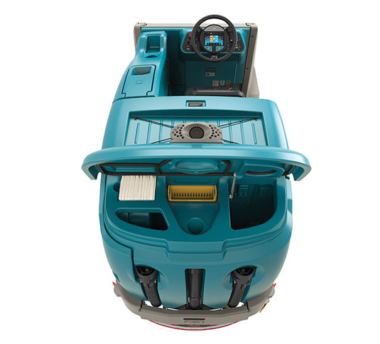 M17 Battery-Powered Ride-On Sweeper-Scrubber alt 4