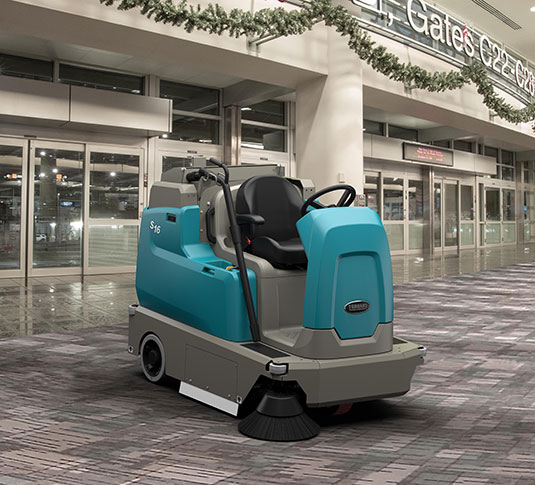 S16 Battery-Powered Compact Ride-On Sweeper alt 6