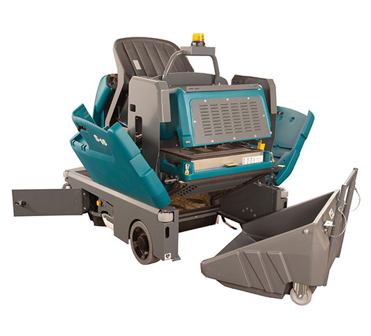 S16 Battery-Powered Compact Ride-On Sweeper alt 8