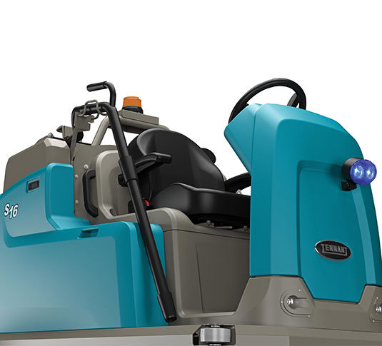 S16 Battery-Powered Compact Ride-On Sweeper alt 15