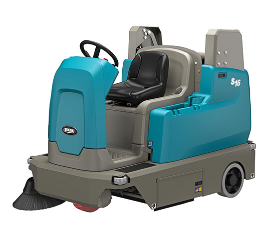 S16 Battery-Powered Compact Ride-On Sweeper alt 16