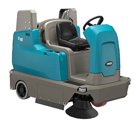 S16 Battery-Powered Compact Ride-On Sweeper alt 1