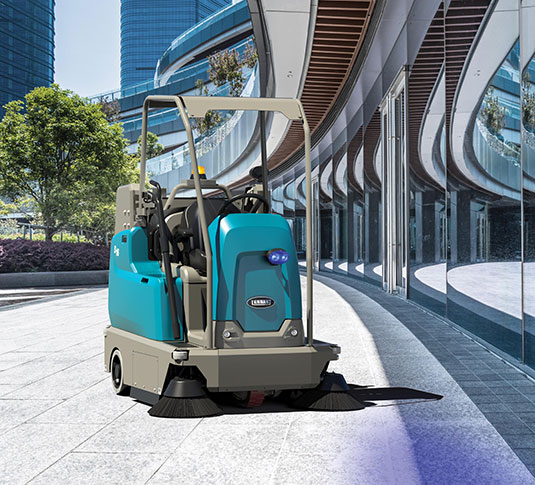 S16 Battery-Powered Compact Ride-On Sweeper alt 4
