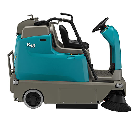 S16 Battery-Powered Compact Ride-On Sweeper alt 10