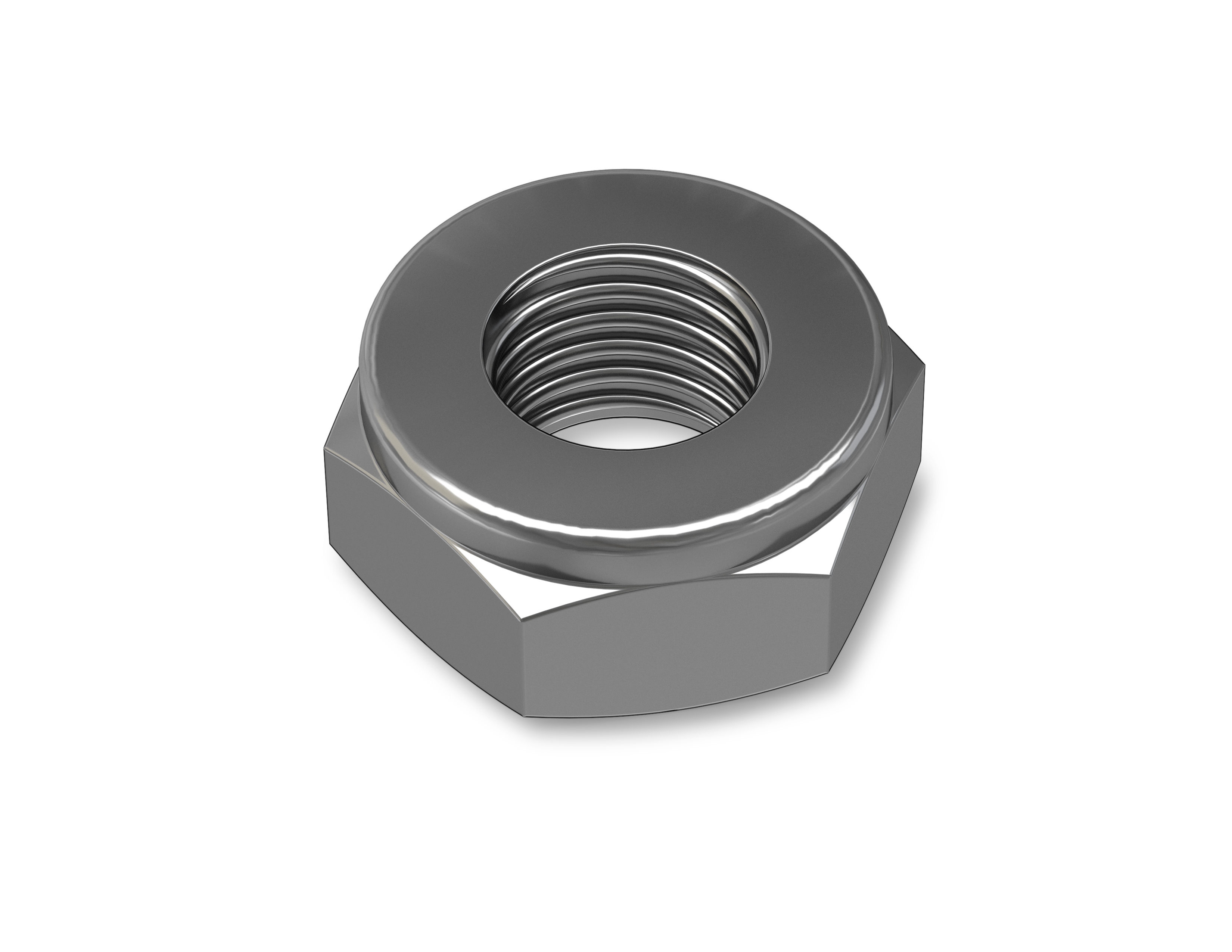 01754 Stainless Steel Hex Nut - M3 Thread x 0.09 in alt 1