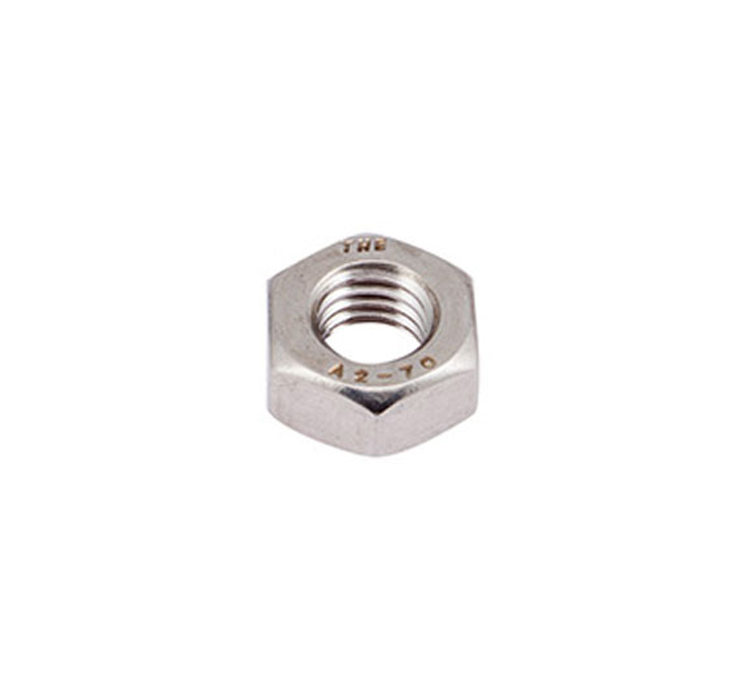 07787 Stainless Steel Hex Nut - M10 Thread x 0.315 in alt 1