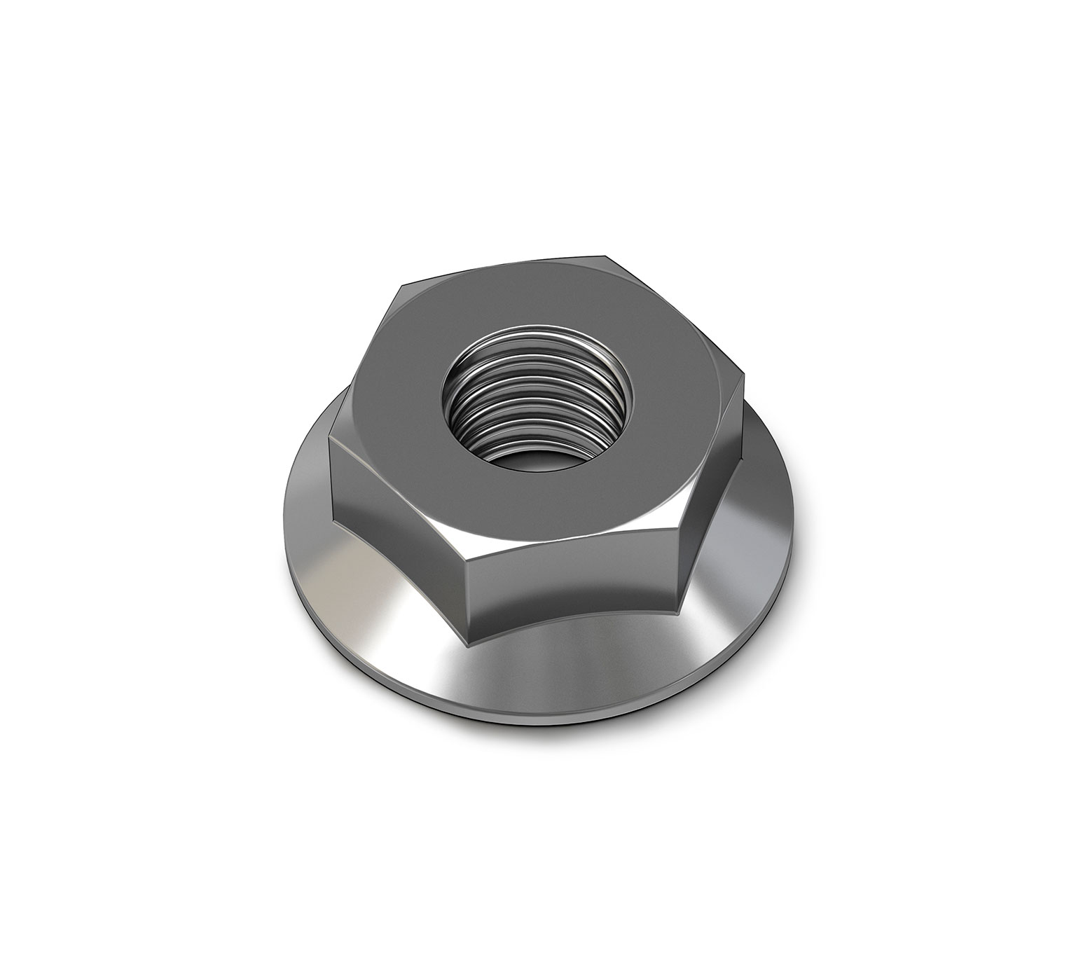07790 Steel Hex Flange Nut - M6 Thread x 0.2 in alt 1