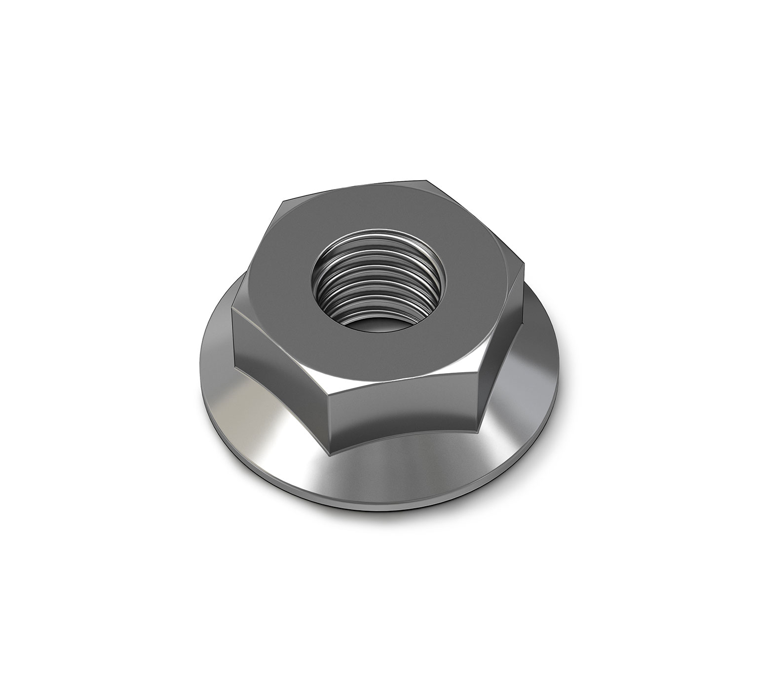 07791 Steel Hex Flange Nut - M8 Thread x 0.276 in alt 1
