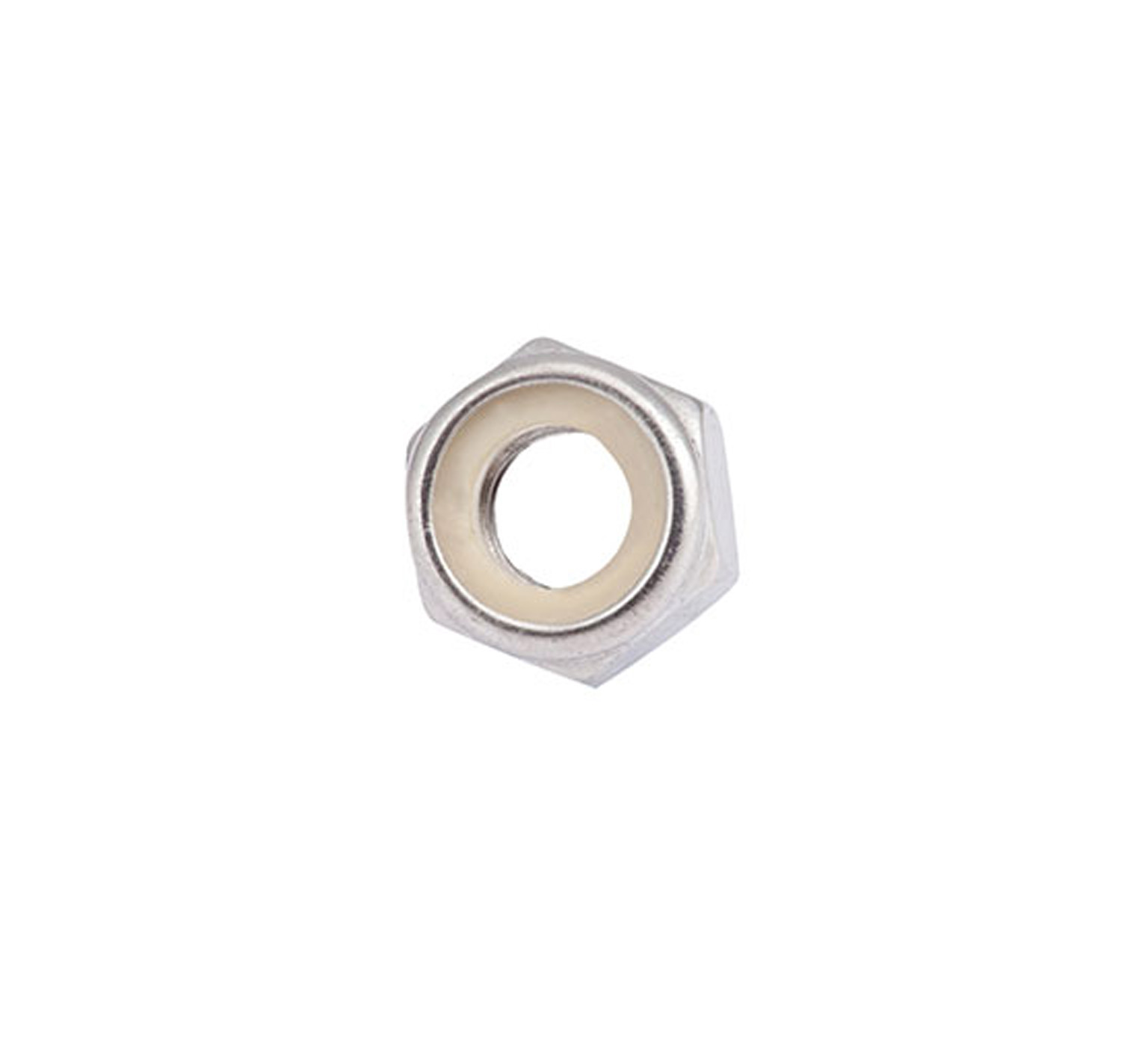 08714 Stainless Steel Hex Lock Nut - M10 Thread x 0.393 in alt 1