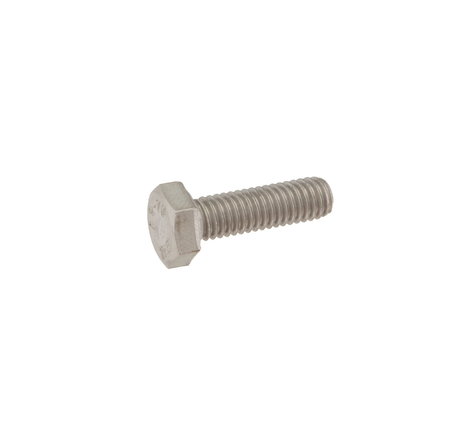 08716 Stainless Steel Hex Screw - M6 Thread x 0.75 in alt 1