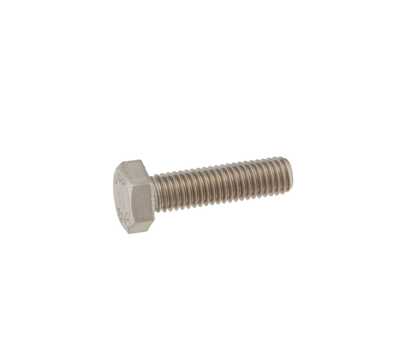 09011 Stainless Steel Hex Screw - M8 Thread x 1.15 in alt 1