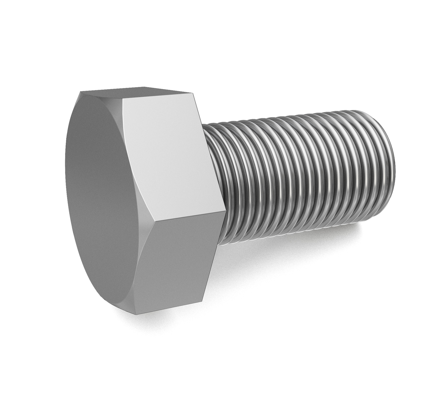 09291 Stainless Steel Hex Screw - M10 Thread x 0.75 in alt 1