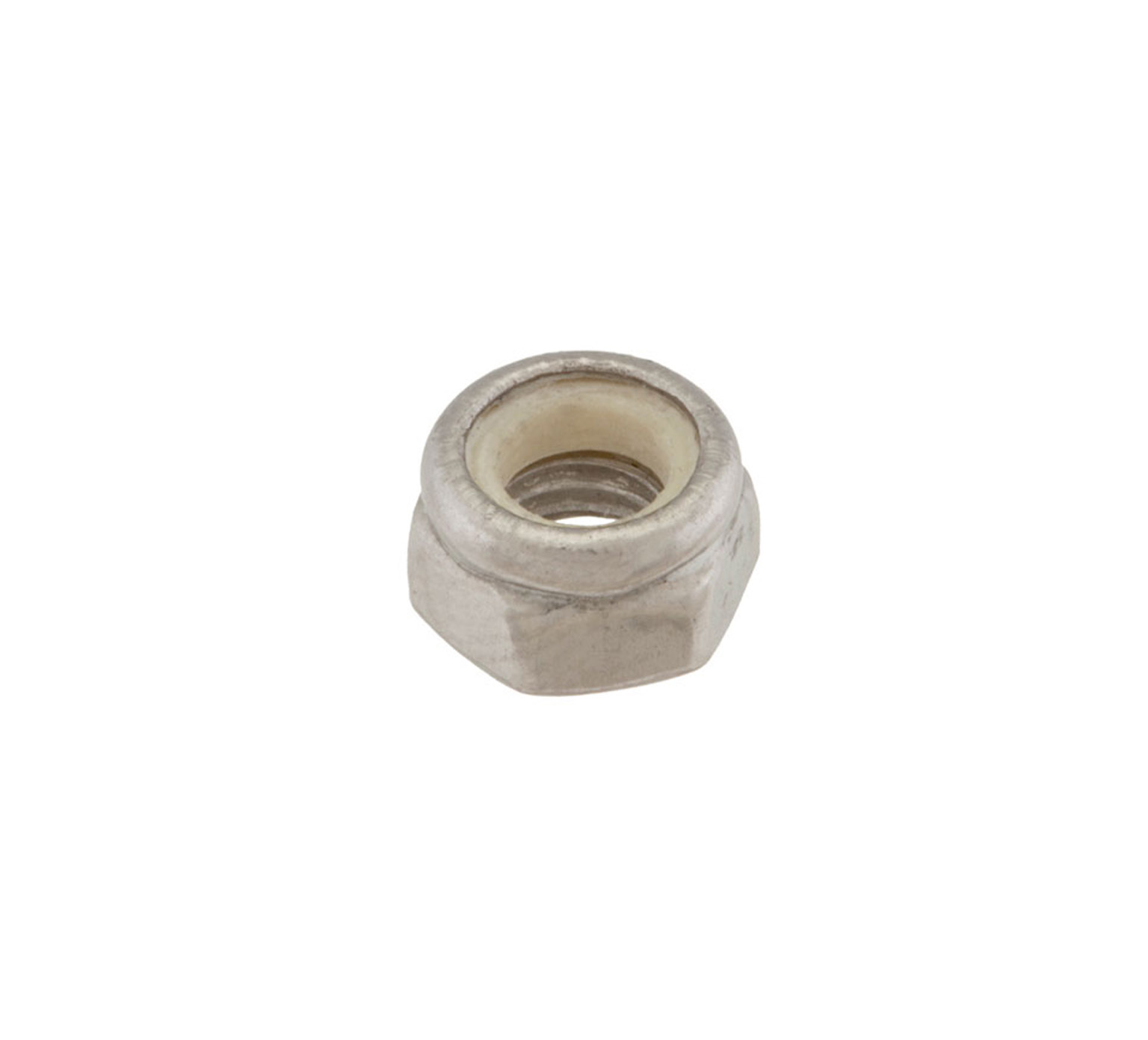 09739 Stainless Steel Hex Lock Nut - M5 Thread x 0.2 in alt 1