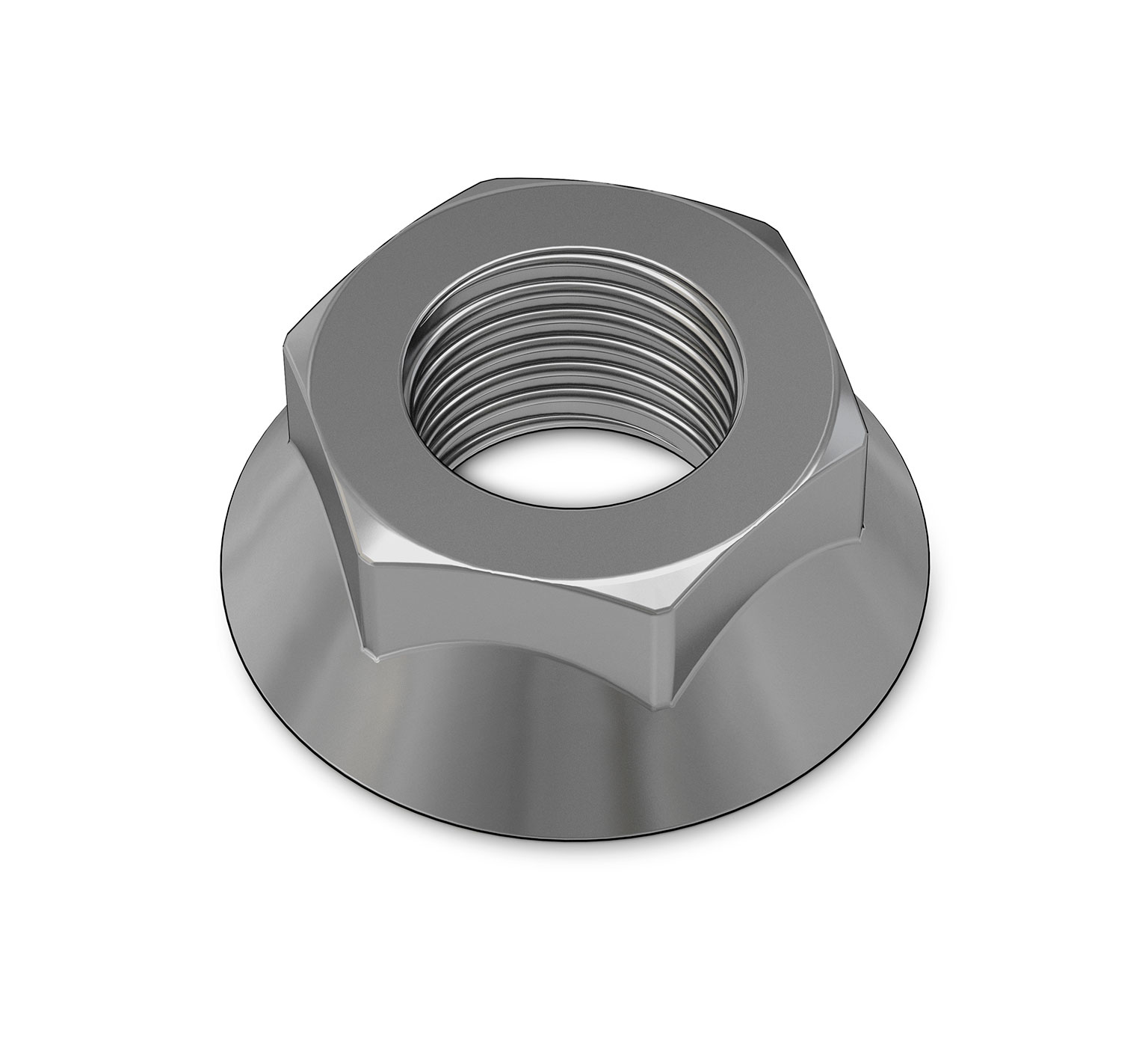 1040381 Stainless Steel Hex Flange Nut - M6 Thread alt 1