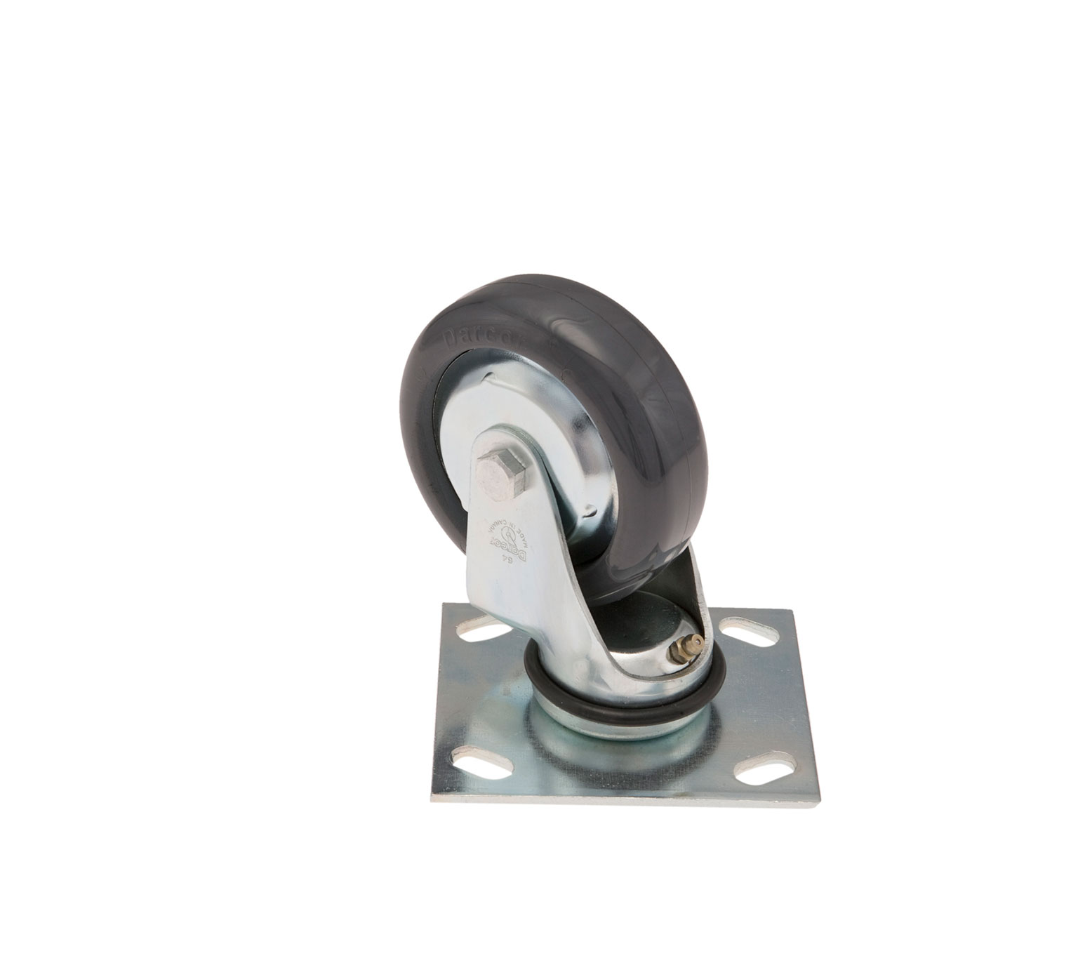 1049048 4-Hole Solid Elastomer Swivel Caster alt 1
