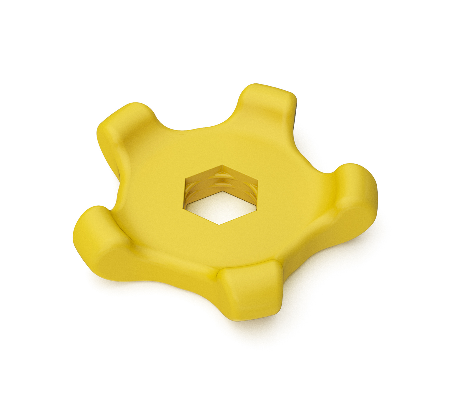 1055516 Polypropylene Star Knob - 3.207 x 0.701 in alt 1