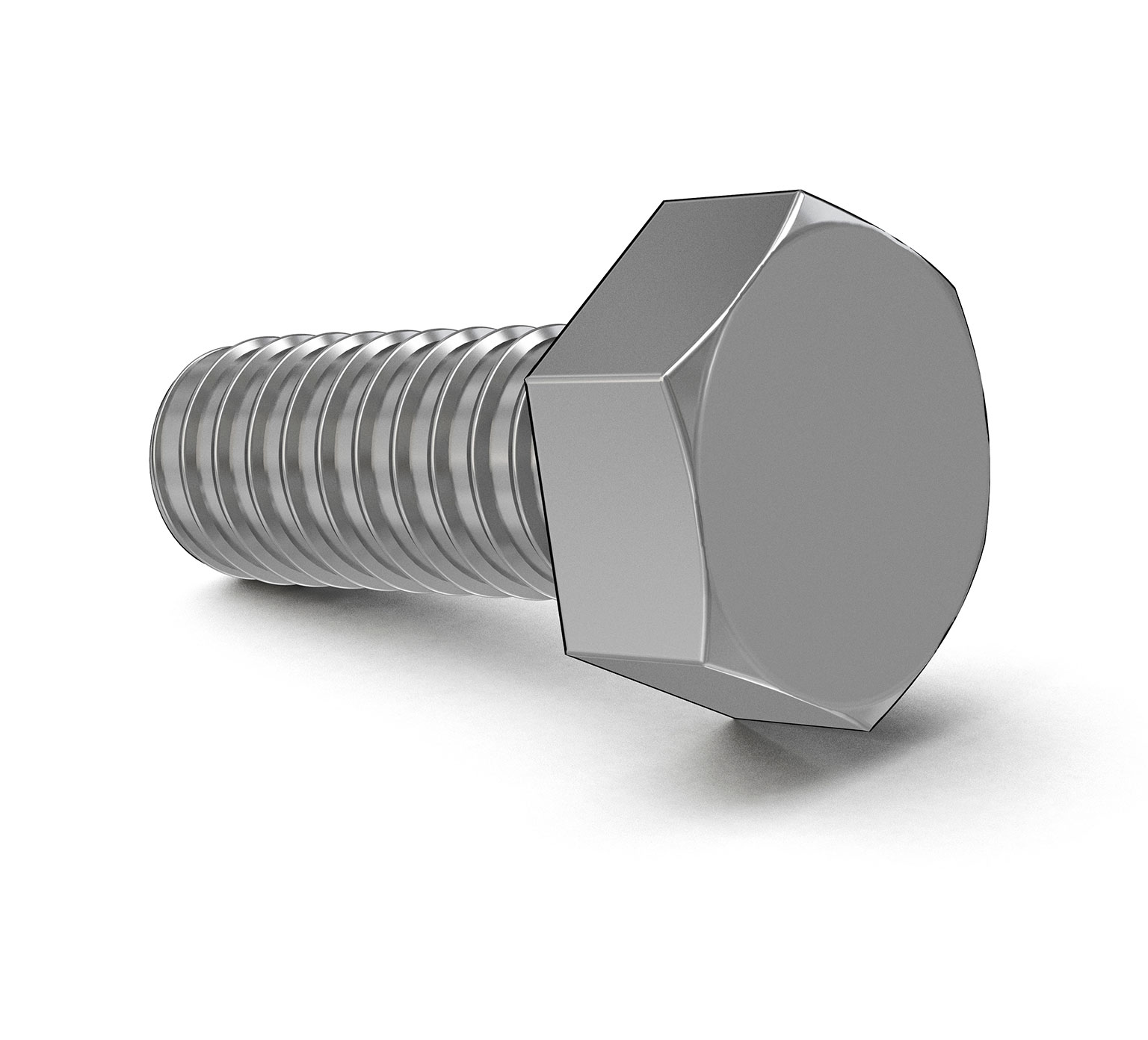 11329 Stainless Steel Hex Screw - M6 Thread x 0.787 in alt 1