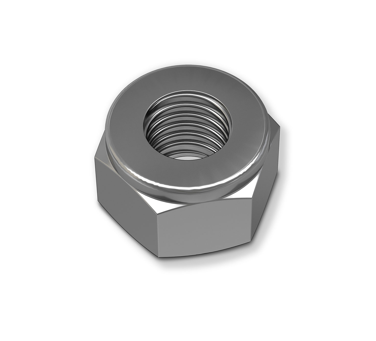 32983 Steel Hex Lock Nut - 0.567 x 0.484 in alt 1