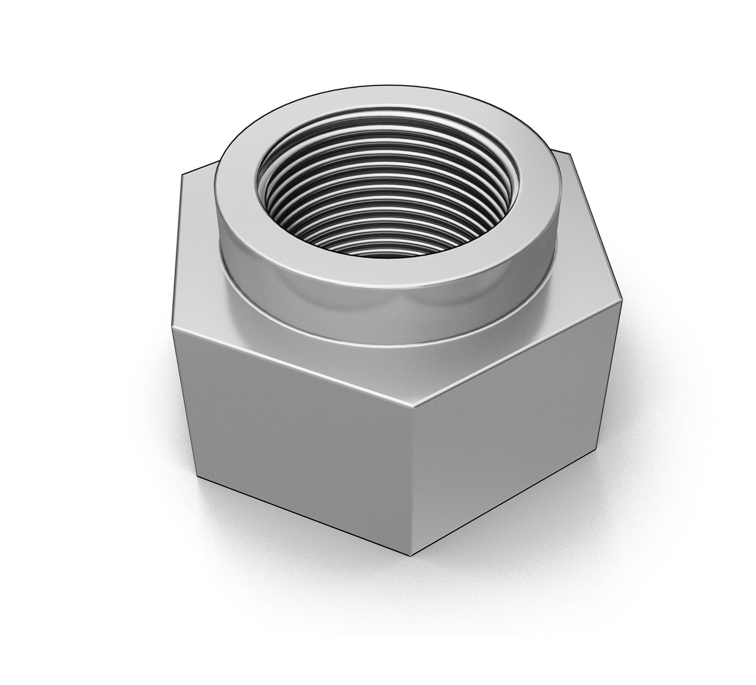 33342 Carbon Steel Hex Lock Nut - 1.05 x 0.63 in alt 1