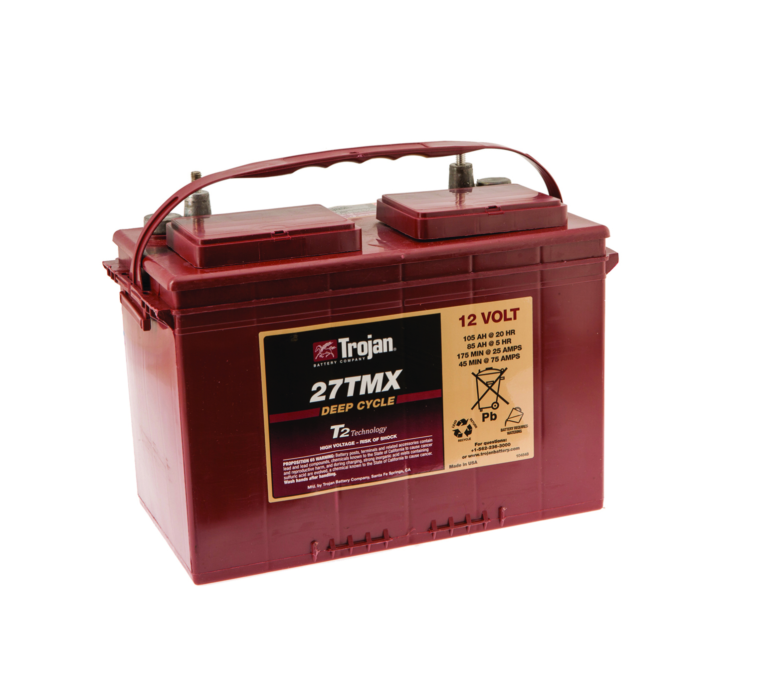 578426 12 Volt Wet Trojan Battery alt 1