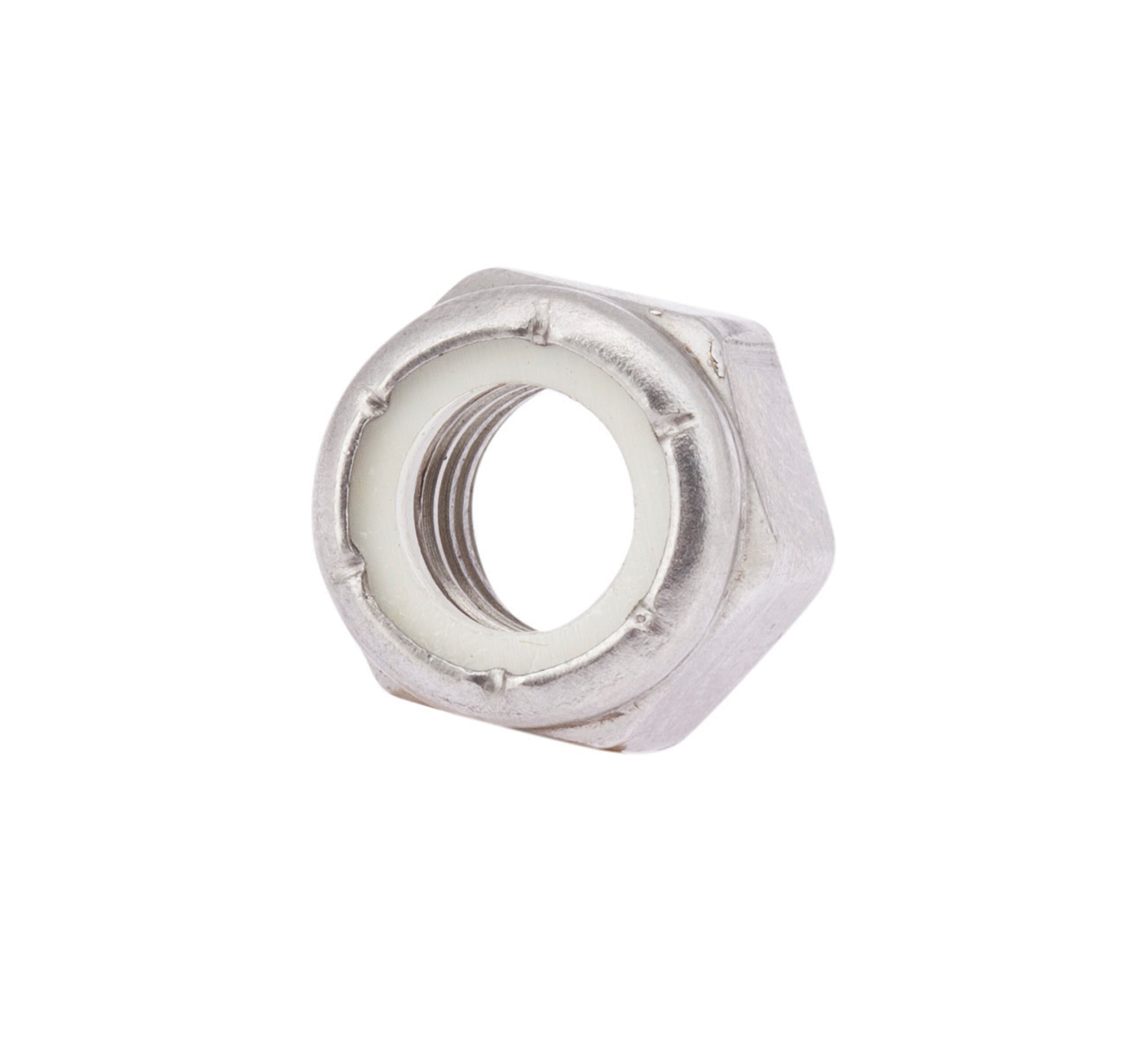 59156 Stainless Steel Hex Lock Nut - 0.564 x 0.468 in alt 1