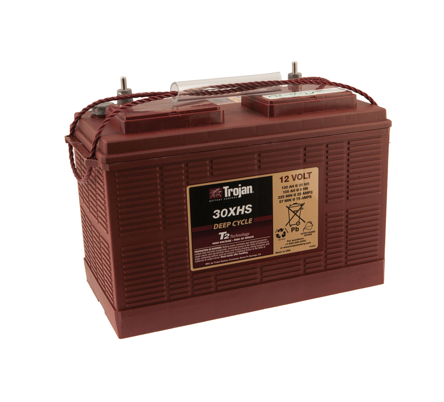 80063 12 Volt Wet Trojan Battery alt 1
