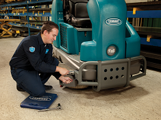 Tennant warranty maintenance on floor cleaning equipment