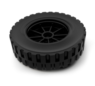 1061961 Solid Tire Assembly alt
