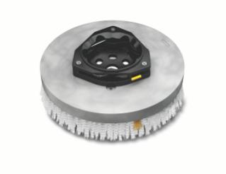 1220188 Assemblage de brosse de récurage à disque en polypropylène – 18po / 457mm alt