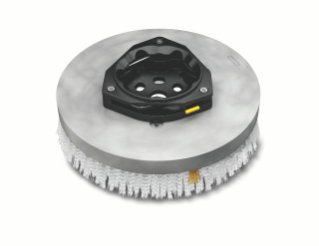1220191 Assemblage de brosse de récurage à disque abrasif en nylon – 18po / 457mm alt
