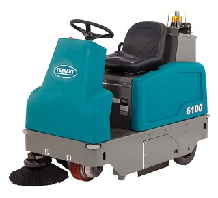 6100 Sub-Compact Battery Rider Sweeper alt