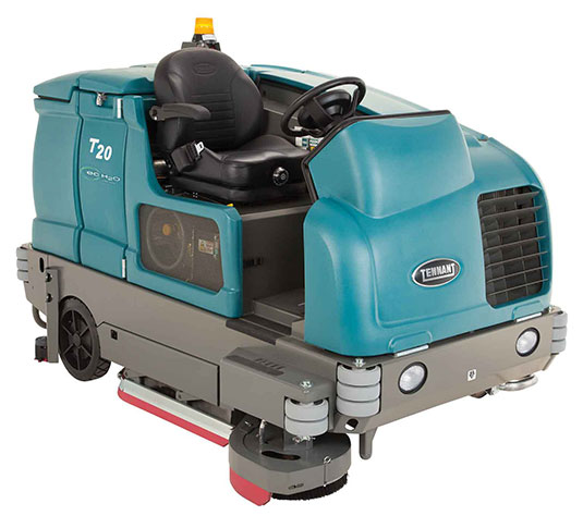 T20 Industrial Ride On Floor Scrubber Tennant Company