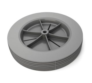 1038395 Semi Pneumatic Tire &#38 Rim Assembly alt