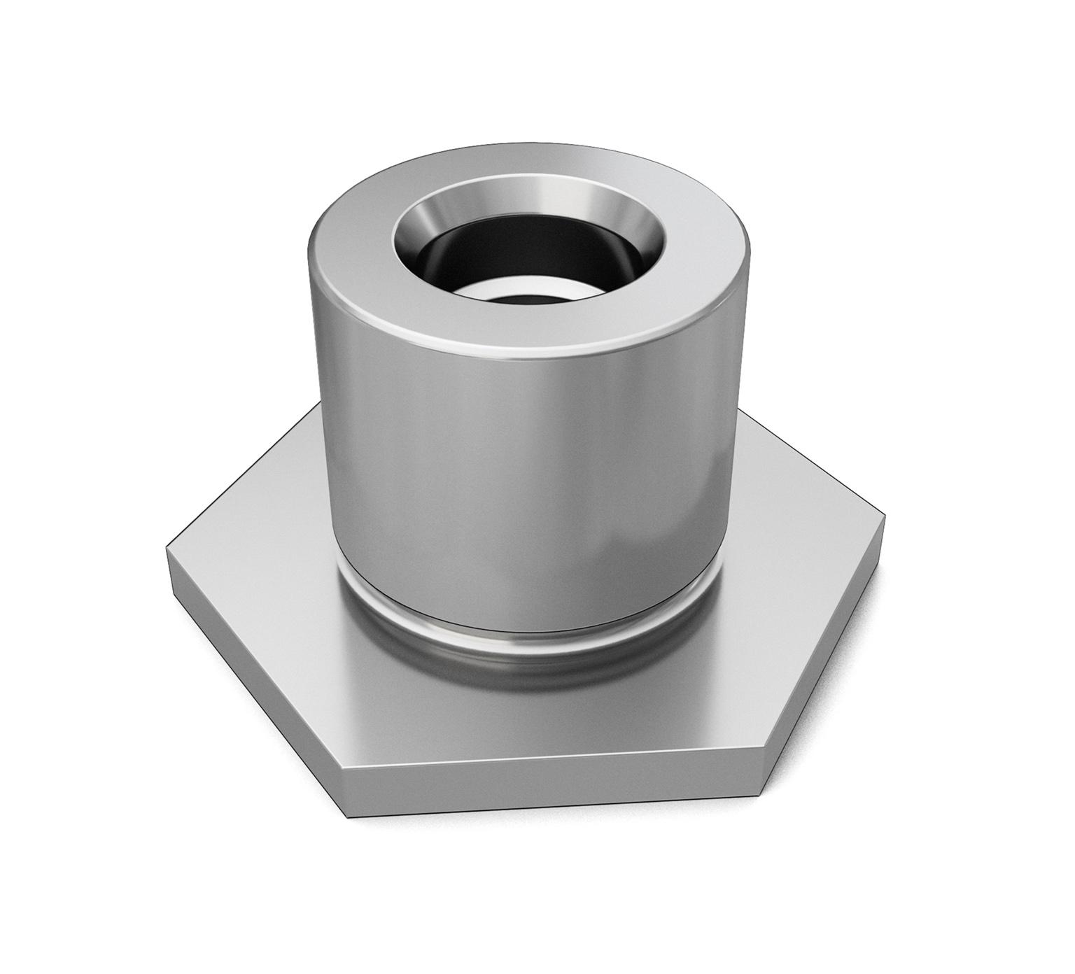 Tennanttrue Steel Hex Flange Bushing 1 X 0 629 In Pn