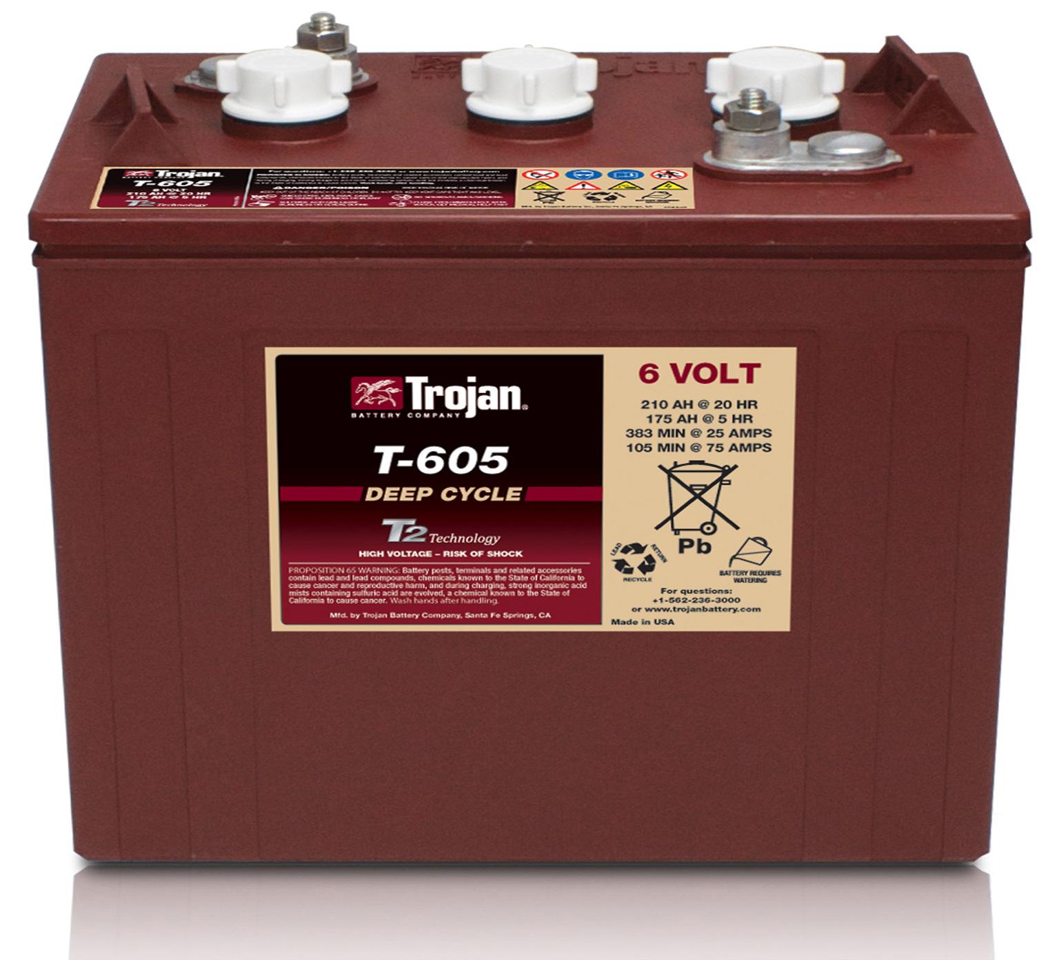 Tennanttrue 6 Volt Wet Trojan Battery Pn 1227180